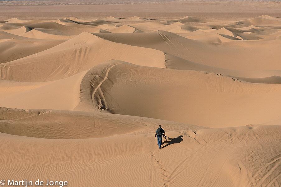 Brandend zand: gieren-fotografie bij 55 graden!