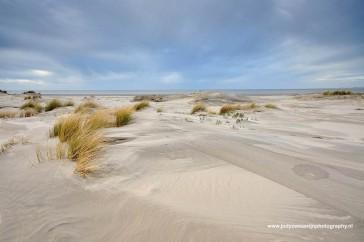 Strand en jonge duintjes in de noordhoek van Kwade Hoek.