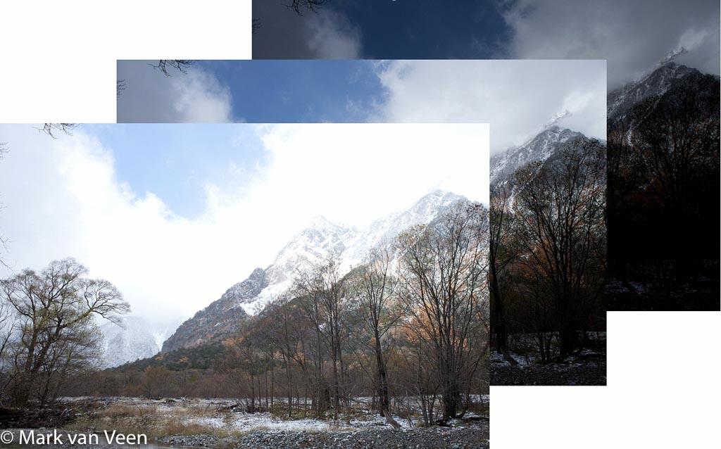 Uit drie afbeeldingen, een overbelichte, onderbelichte en een normaal belichte, maakt een HDR-programma een samengestelde HDR-foto.