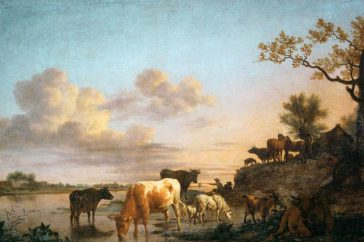 Adriaen van de Velde – Animals by the river