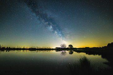 Melkweg boven het Aamsveen