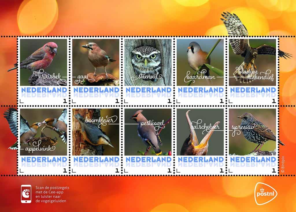 vogelpostzegels herfst