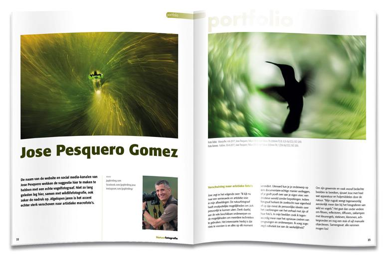 Natuurfotografie Magazine spread