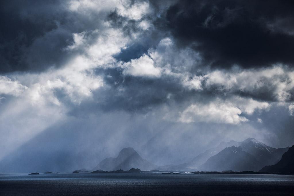 De weersomstandigheden op de Lofoten