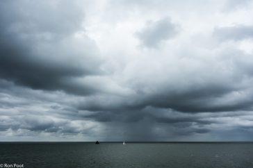 Bui boven de Waddenzee
