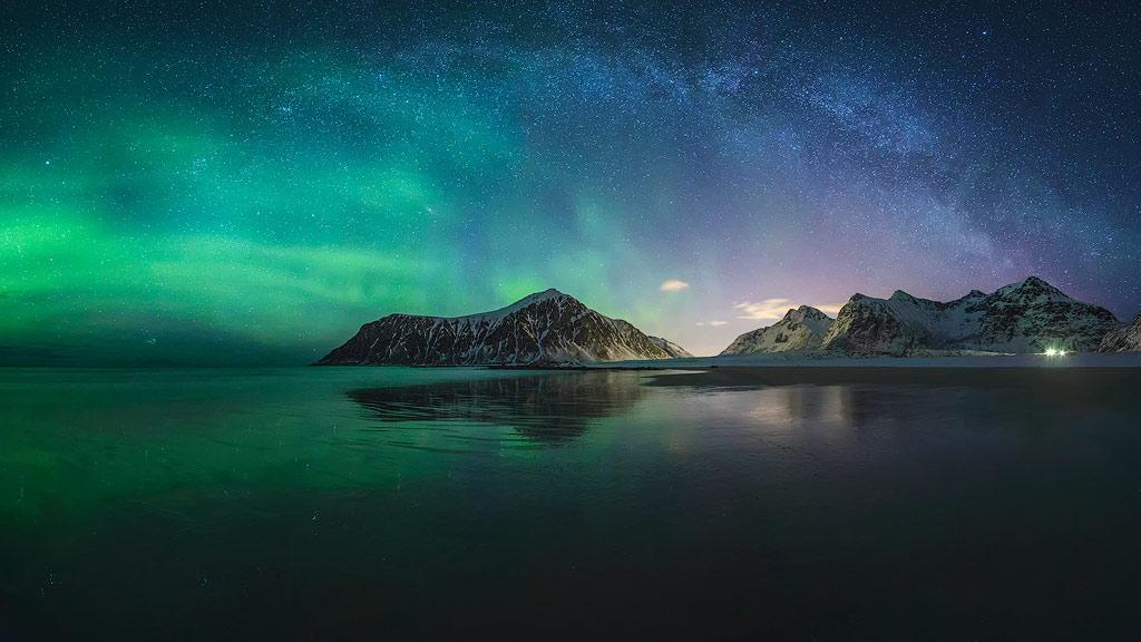 Noorderlicht + melkwegboog.