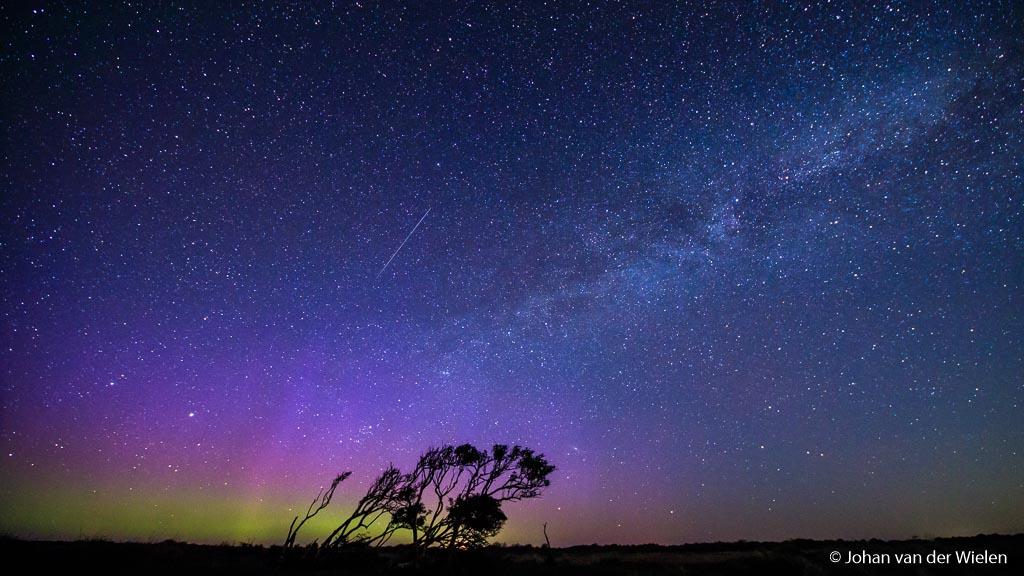 Noorderlicht, Melkweg èn vallende ster