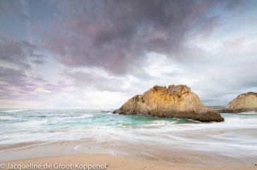 zonsondergang Playa Ribeira, Tapia de Casariego, Asturias