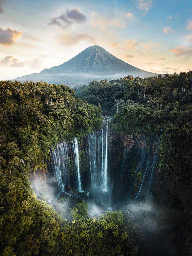 Tampak Sewu Waterval, Indonesië