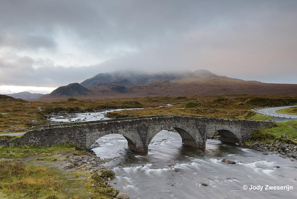 Schotland Isle of Skye, Sligachan brug