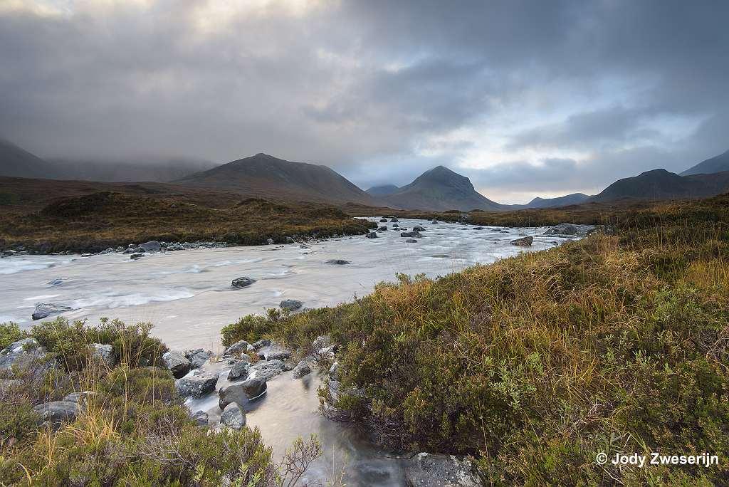 Schotland Isle of Skye, Sligachan rivier