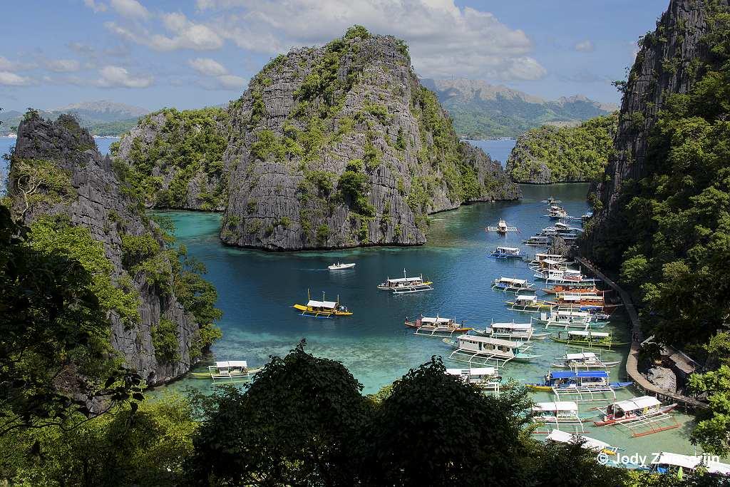 Baai bij Kanyangan Lake, Coron, Filipijnen