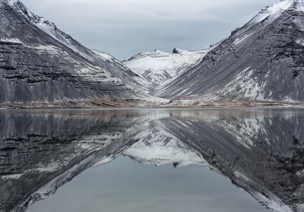 Intiem landschap en reflectie