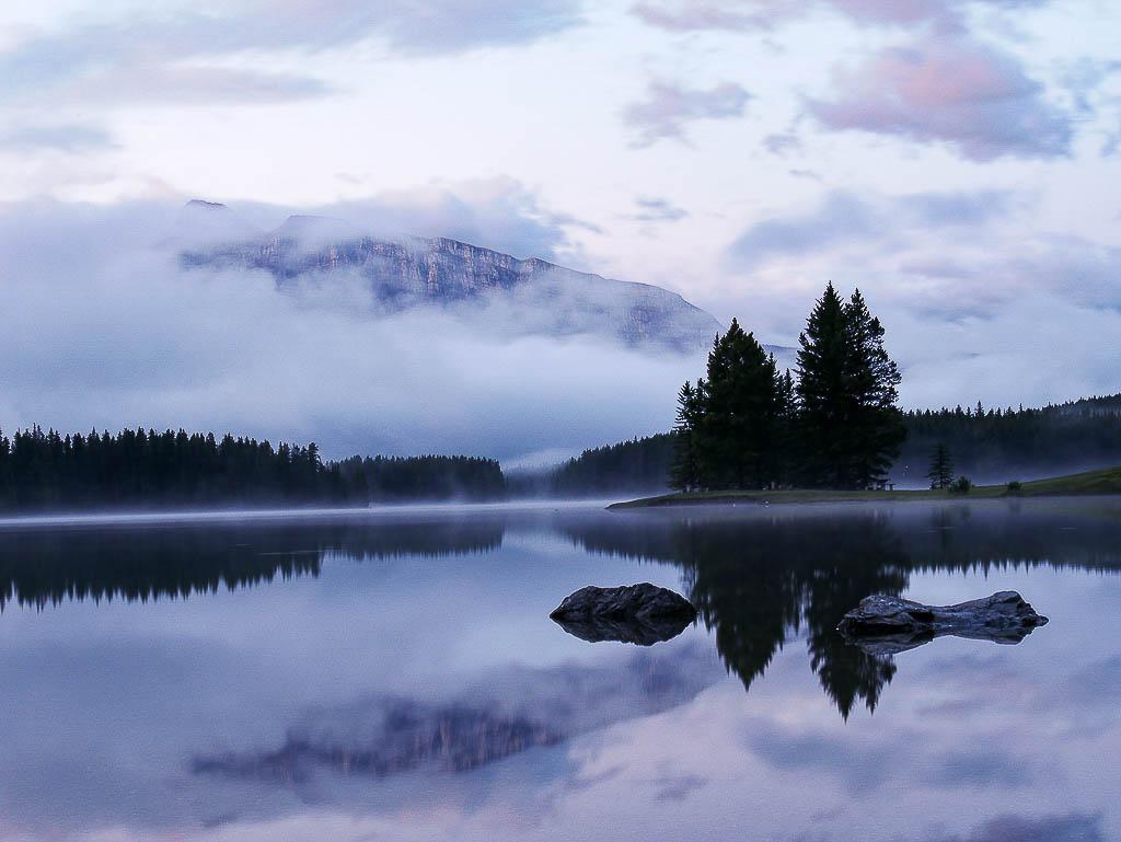 Mystieke ochtend in Canada