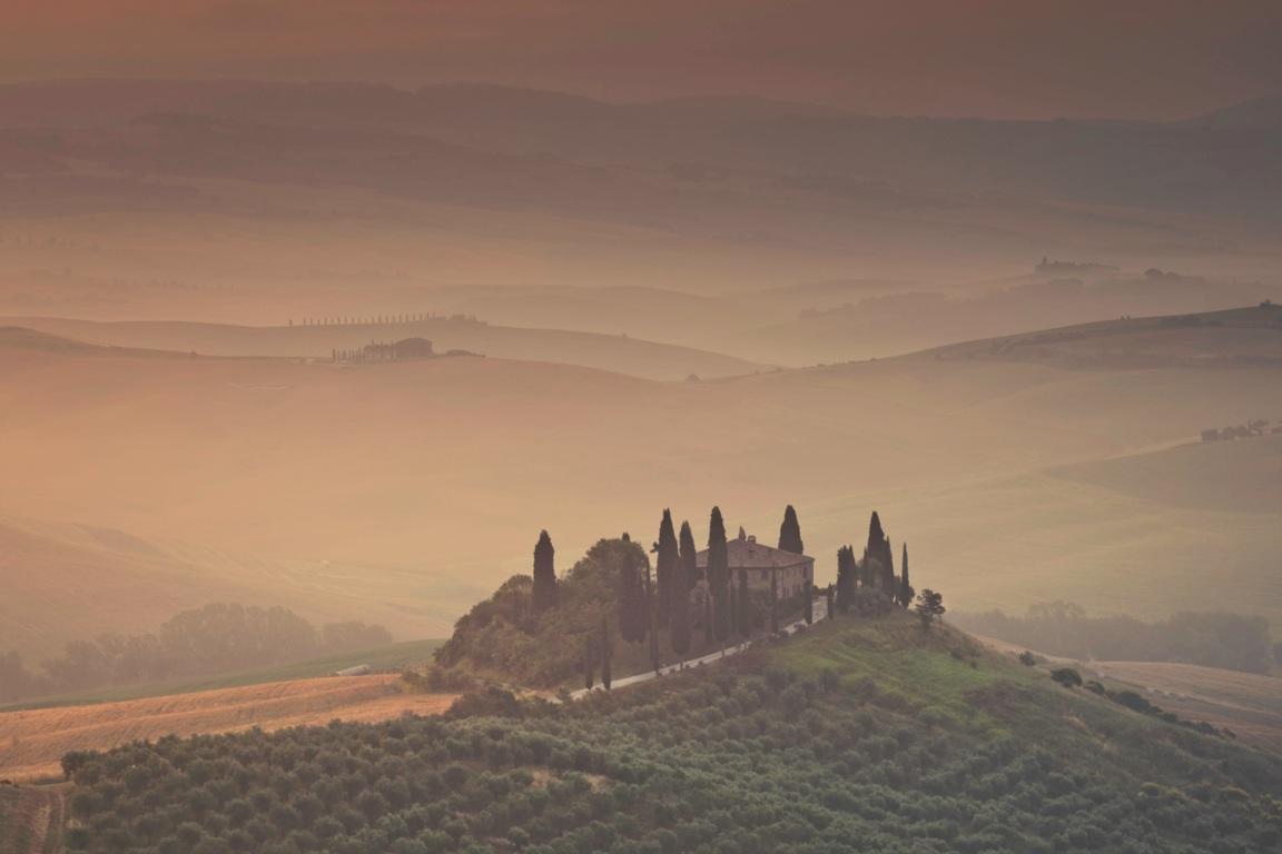 Toscaans landschap (Italie)