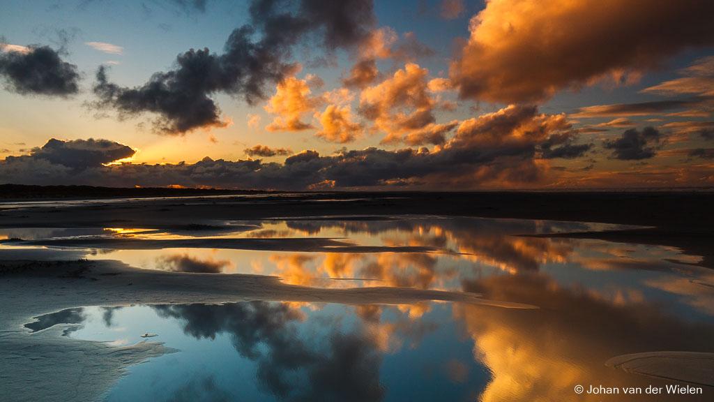 horizon in het midden bij reflecties